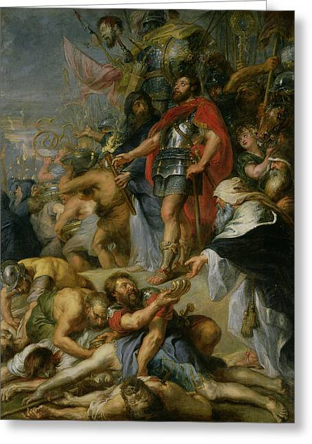 The Triumph Of Judas Maccabeus Greeting Card by Peter Paul Rubens