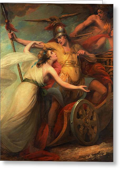 The Triumph Of Mercy, From Collins Ode To Mercy Greeting Card by Litz Collection