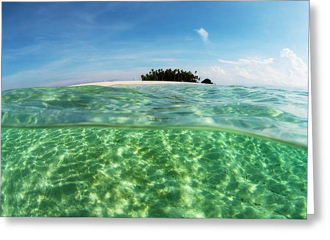 The Tropic Island Of Si Amil Off Borneo Greeting Card by Scubazoo