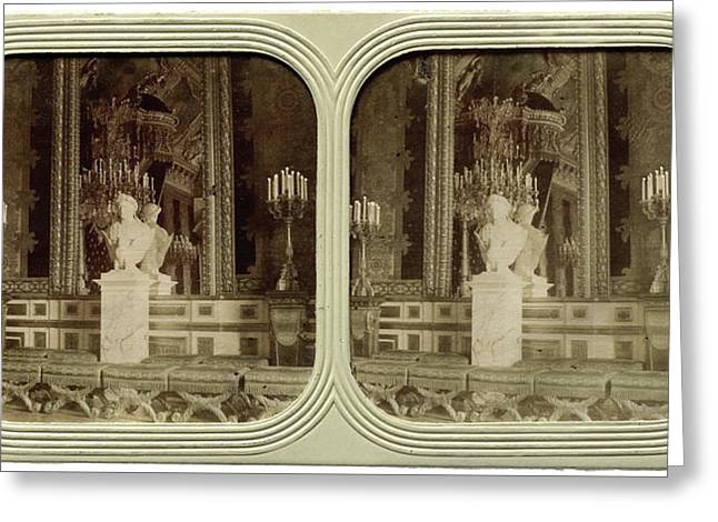 The Tuileries Throne Room France, Attributed To Florent Grau Greeting Card by Artokoloro