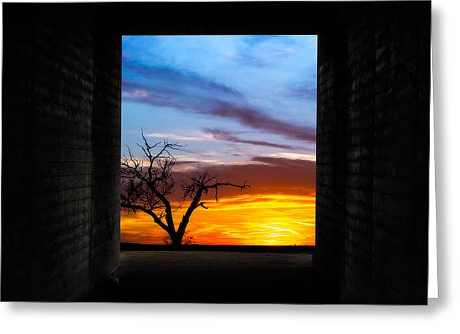 The Tunnel   Sunset1 Greeting Card