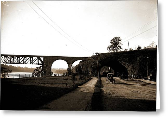 The Tunnel, River Drive, Fairmount Park, Philadelphia Greeting Card by Litz Collection