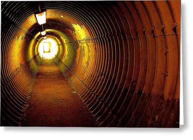 The Tunnel Greeting Card by Theresa Tahara