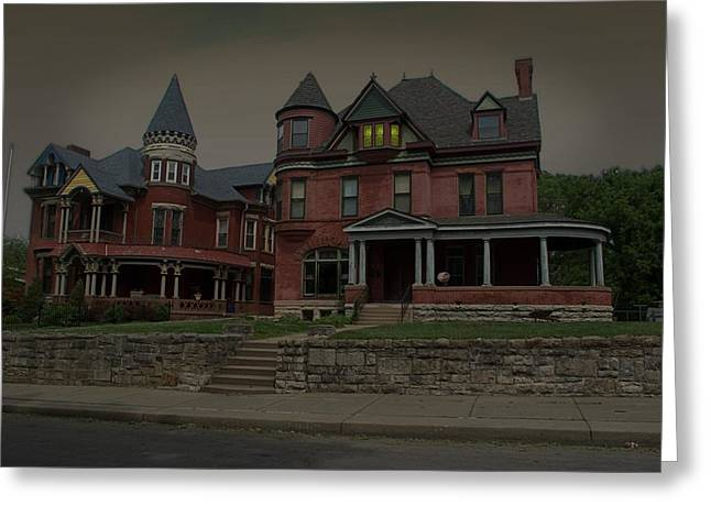 The Two Sisters Haunted House Greeting Card by Tim McCullough
