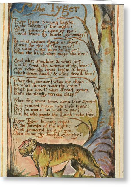 'the Tyger' Greeting Card