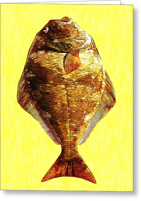 The Ugly Fish 20130723mu Greeting Card by Wingsdomain Art and Photography