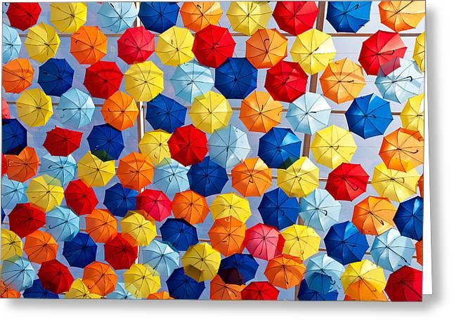 The Umbrella Sky Greeting Card