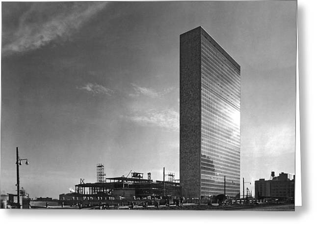 The Un Under Construction Greeting Card by Underwood & Underwood