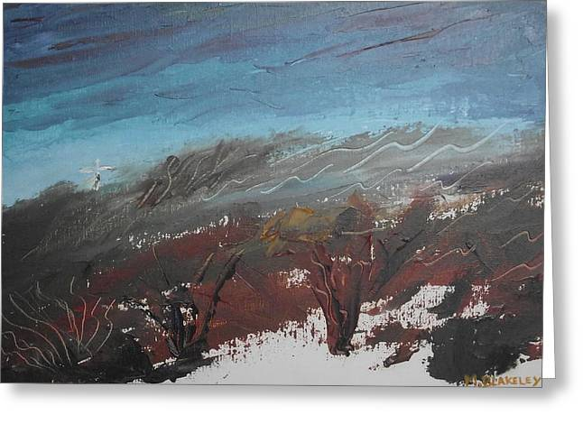 Greeting Card featuring the painting The Unfinished Landscape by Martin Blakeley