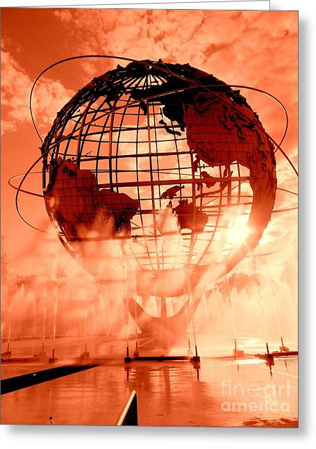 The Unisphere And Fountains Greeting Card