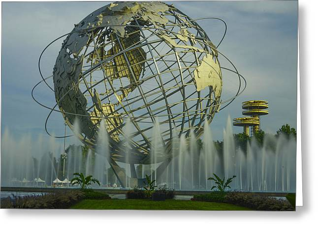 The Unisphere Greeting Card by Theodore Jones