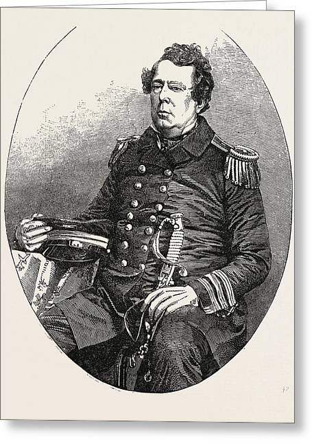 The United States Expedition To Japan Commodore Matthew C Greeting Card