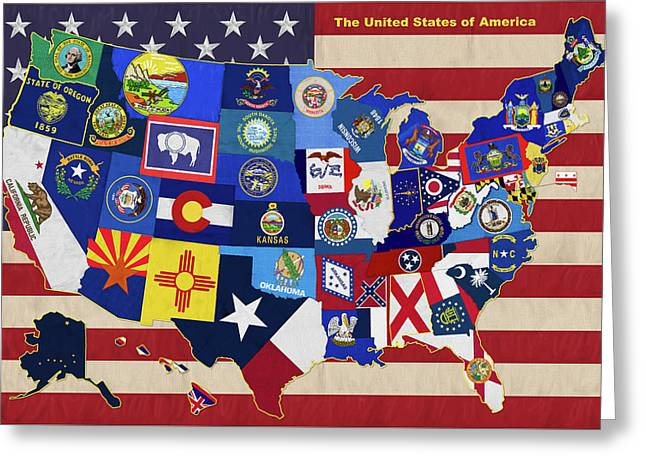 The United States Greeting Card by Garry Walton