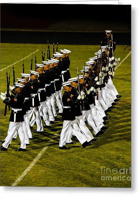 The United States Marine Corps Silent Drill Platoon Greeting Card