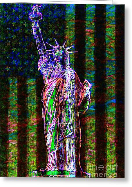 The United States Of America 20130115 Greeting Card by Wingsdomain Art and Photography