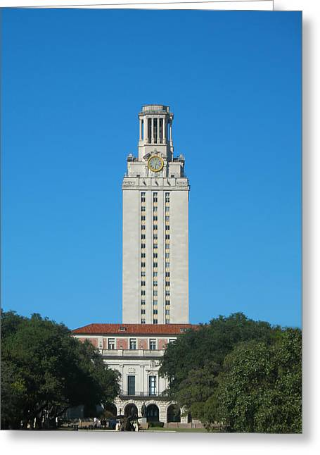 Greeting Card featuring the photograph The University Of Texas Tower by Connie Fox