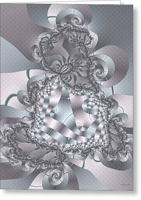 Greeting Card featuring the digital art The Unraveling by Owlspook