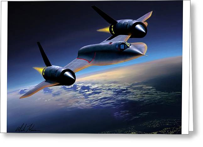 The Untouchable  Sr-71 Blackbird Greeting Card by Mark Karvon