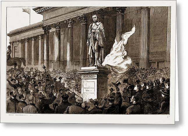 The Unveiling By Sir Richard Cross Of The New Statue Greeting Card by Litz Collection