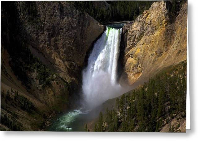 The Upper Falls Greeting Card by Terry Horstman