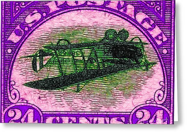 The Upside Down Biplane Stamp - 20130119 - V2 Greeting Card