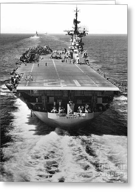 The U.s. Aircraft Carrier Uss Boxer Greeting Card by Stocktrek Images