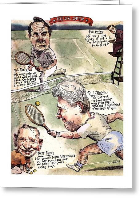 The U.s. Open Greeting Card by Barry Blitt