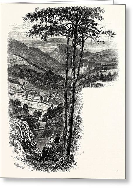 The Vale Of Cromford And Matlock, From The Black Rocks, Uk Greeting Card by English School
