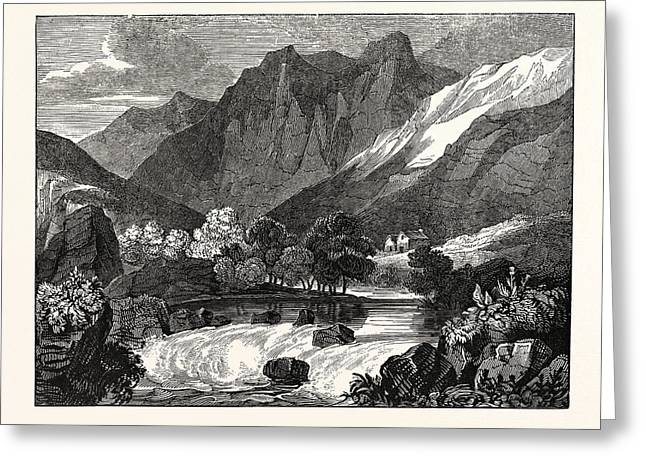 The Vale Of Glenco, Glencoe, Scotland Greeting Card by Litz Collection