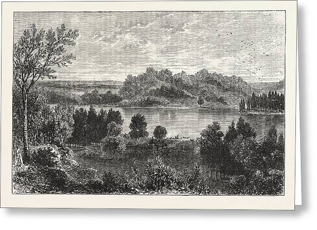 The Valley Of The Mississippi, United States Of America Greeting Card by American School