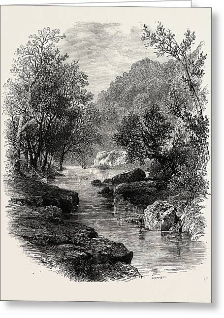The Valley Of The Wharfe, The Forest Scenery Of Great Greeting Card by English School