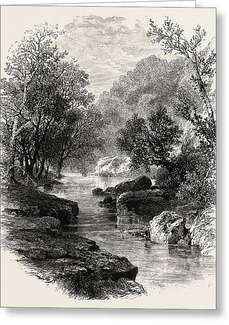 The Valley Of The Wharfe, Uk, Britain, British Greeting Card by English School