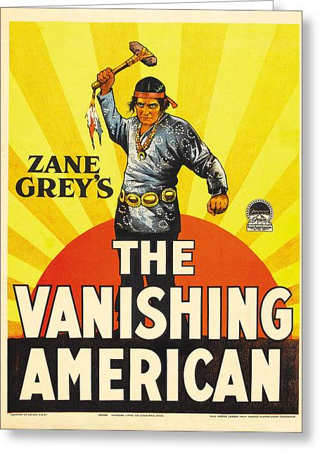 The Vanishing American 1925 Greeting Card by Mountain Dreams