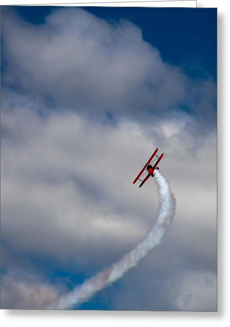 The Vapor Trail Greeting Card by David Patterson