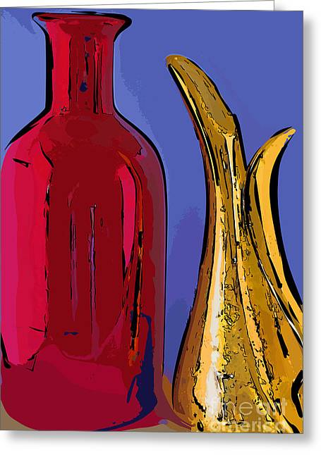 The Vase And Pitcher Greeting Card