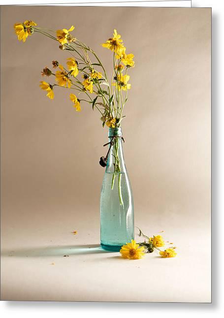 The Vase Greeting Card by Mary Lee Dereske