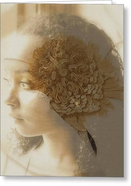 The Veil Greeting Card by Jodie Marie Anne Richardson Traugott          aka jm-ART