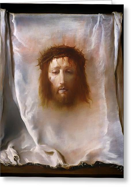 The Veil Of Veronica Greeting Card