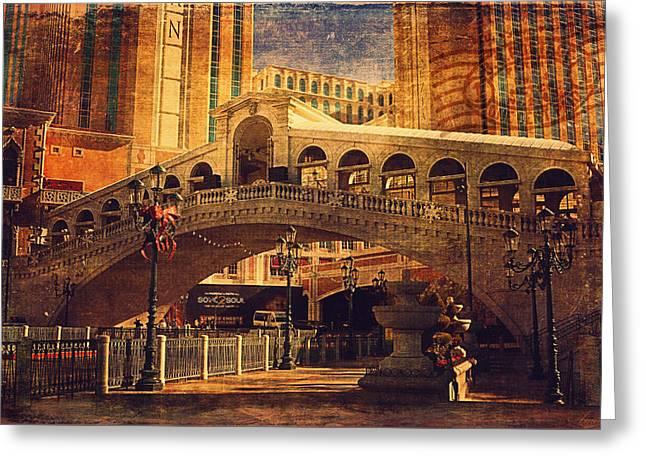 The Venetian  Greeting Card by Maria Angelica Maira