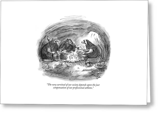 The Very Survival Of Our Society Depends Greeting Card by Frank Cotham