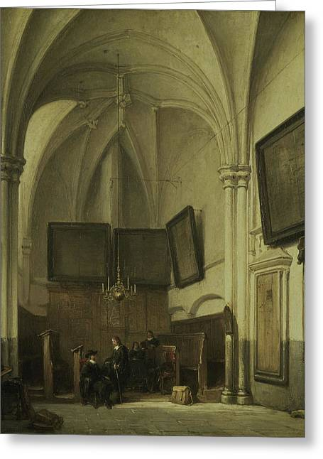 The Vestry Of The Sint Stevens Church Nijmegen Greeting Card by Litz Collection