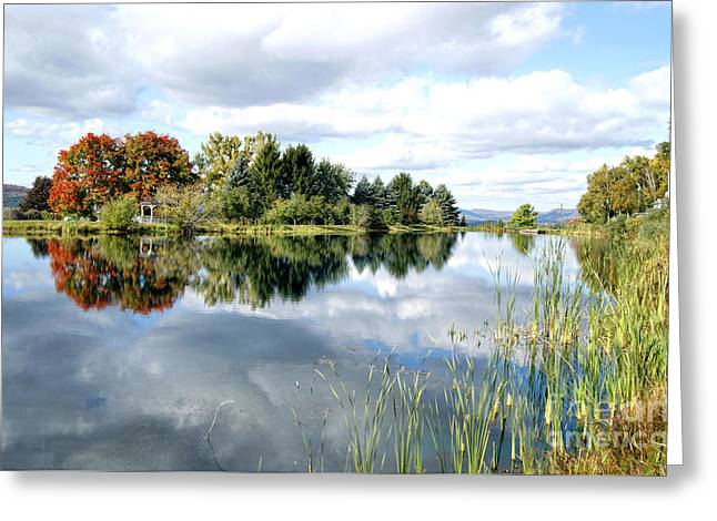 The View Across The Lake Greeting Card