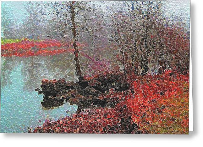 The View Across The Rideau On A Foggy Morning Greeting Card by Mario Carini