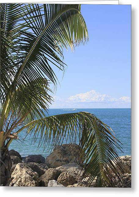 Key West Ocean View Greeting Card