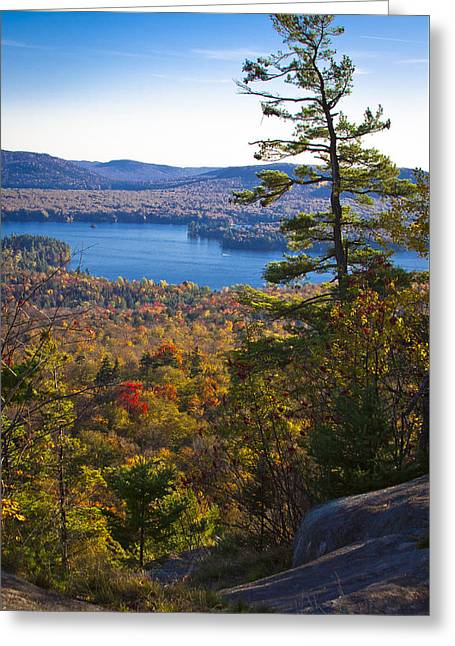 The View From Bald Mountain - Old Forge New York Greeting Card by David Patterson
