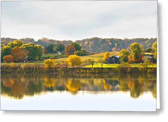 The View From Rabbit Hash Greeting Card by Jeanne Sheridan