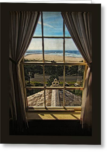 The View From The Lighthouse Greeting Card by Thom Zehrfeld
