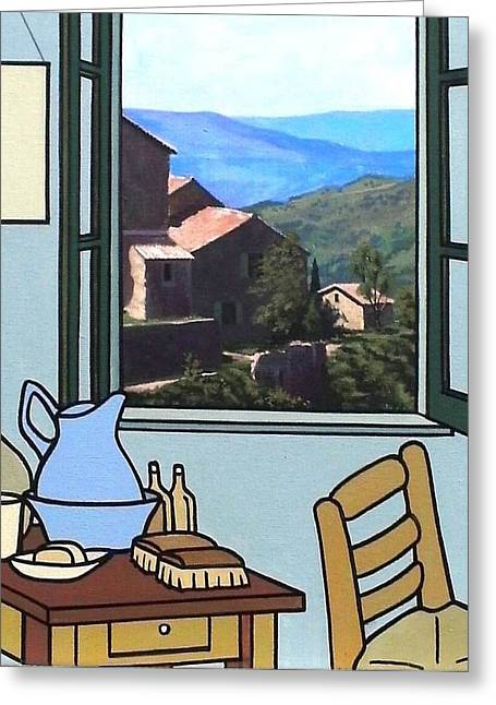 The View From Vincent's Room. Sold Greeting Card by Kenneth North