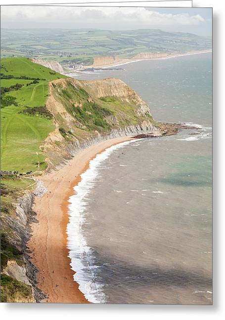 The View West Towards Bridport Greeting Card by Ashley Cooper