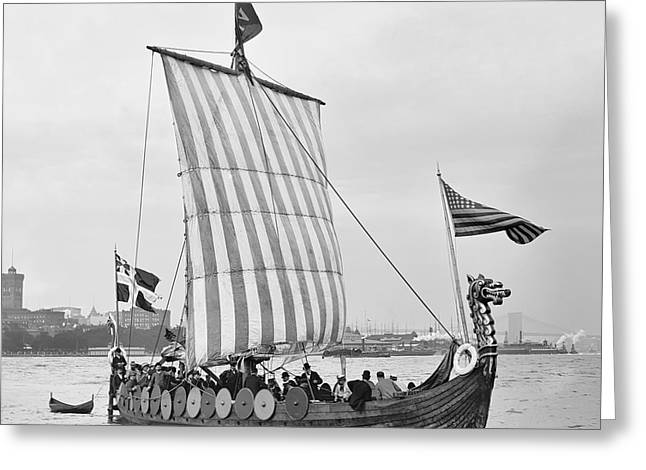 The Viking Ship - New York - 1893 Greeting Card by Daniel Hagerman